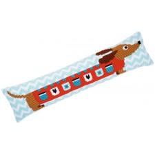 Cross stitch draft stopper kit Cute dog