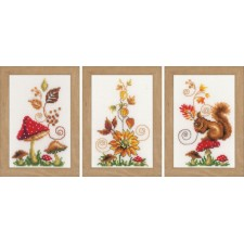 Miniature kit Autumn idyll set of 3