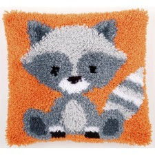 Latch hook cushion kit Raccoon