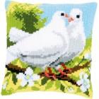 Cross stitch cushion kit White pigeons
