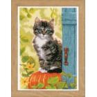 Counted cross stitch kit Cat & pumpkin