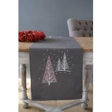Kersttafelloper lang Kerstbomen