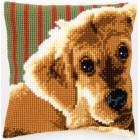 Cross stitch cushion kit Dog