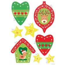 Borduurkaarten Kersthangers 2 kaarten