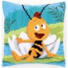 (OP=OP) Cross stitch cushion kit MDB Willy & waterlily