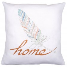 Embroidery cushion kit Feather home