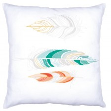 Embroidery cushion kit Feathers