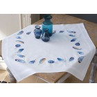 Tablecloth kit Blue feathers