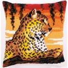 Cross stitch cushion kit Leopard