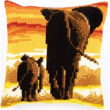 Cross stitch cushion kit Elephants