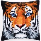 Cross stitch cushion kit Tiger