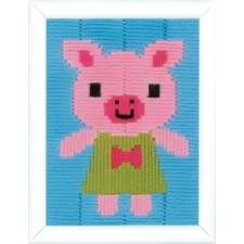 Long stitch kit Pig