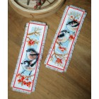 Bookmark kit Long-tailed tits&red berries set of 2