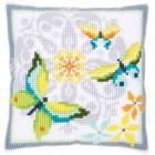 Cross stitch cushion kit Butterflies & flowers