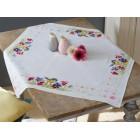 Aida tablecloth kit Bird & violets