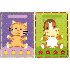 Borduurkaarten Poes en pony set van 2
