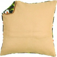 Cushion back with zipper - ecru