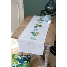 Table runner kit Botanical leaves