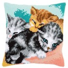 Cross stitch cushion kit Cute kittens