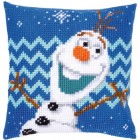 Cross stitch cushion kit Disney Olaf