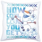 Sublimation printed pillow cover kit Disney Olaf