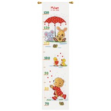 Counted cross stitch kit Under the umbrella