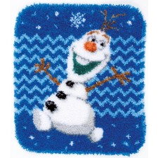 Latch hook shaped rug kit Disney Olaf