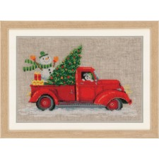 Counted cross stitch kit Christmas truck