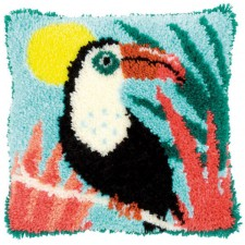 Latch hook cushion kit Toucan