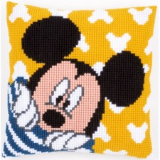 Cross stitch cushion kit Disney Mickey peek-a-boo