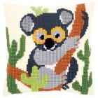 Cross stitch cushion kit Koala