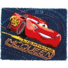 Latch hook rug kit Disney Cars Screeching tires