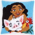 Cross stitch cushion kit Disney Moana