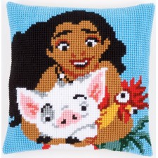Cross stitch cushion kit Disney Moana