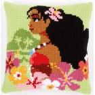 Cross stitch cushion kit Disney Moana island girl