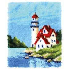Latch hook rug kit Lighthouse