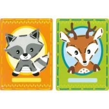 Borduurkaarten Wasbeer en hert set van 2