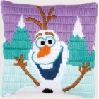 Long stitch cushion kit Disney Olaf