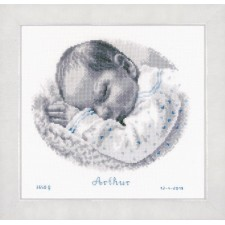 Counted cross stitch kit Sleeping baby