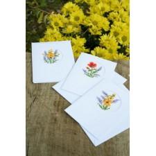 Greeting card kit Flowers & lavender set of 3