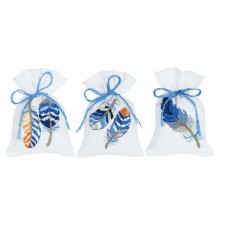 Bag kit Blue feathers set of 3