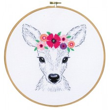 Embroidery kit Deer with flowers