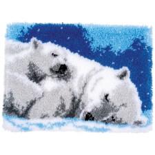 Latch hook rug kit Ice bears