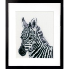 Counted cross stitch kit Zebra