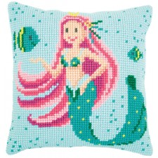 Cross stitch cushion kit Mermaid