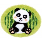 Latch hook shaped rug kit Panda bear