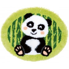 Latch hook shaped rug kit Panda bear