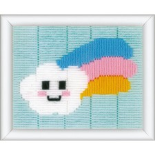 Long stitch kit Little cloud & rainbow