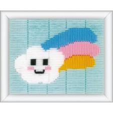 Spansteek kit Wolkje met regenboog