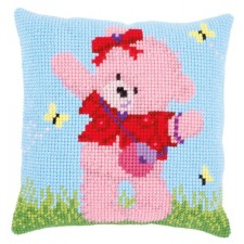 Cross stitch cushion kit Popcorn Brie&butterflies